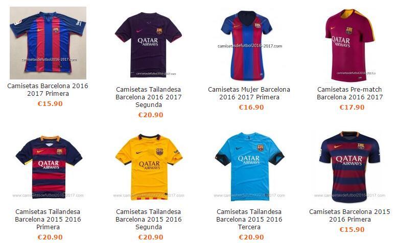 d95a27e6e49e4 Camisetas de futbol baratas 2016  Replicas camisetas futbol 2016 2017