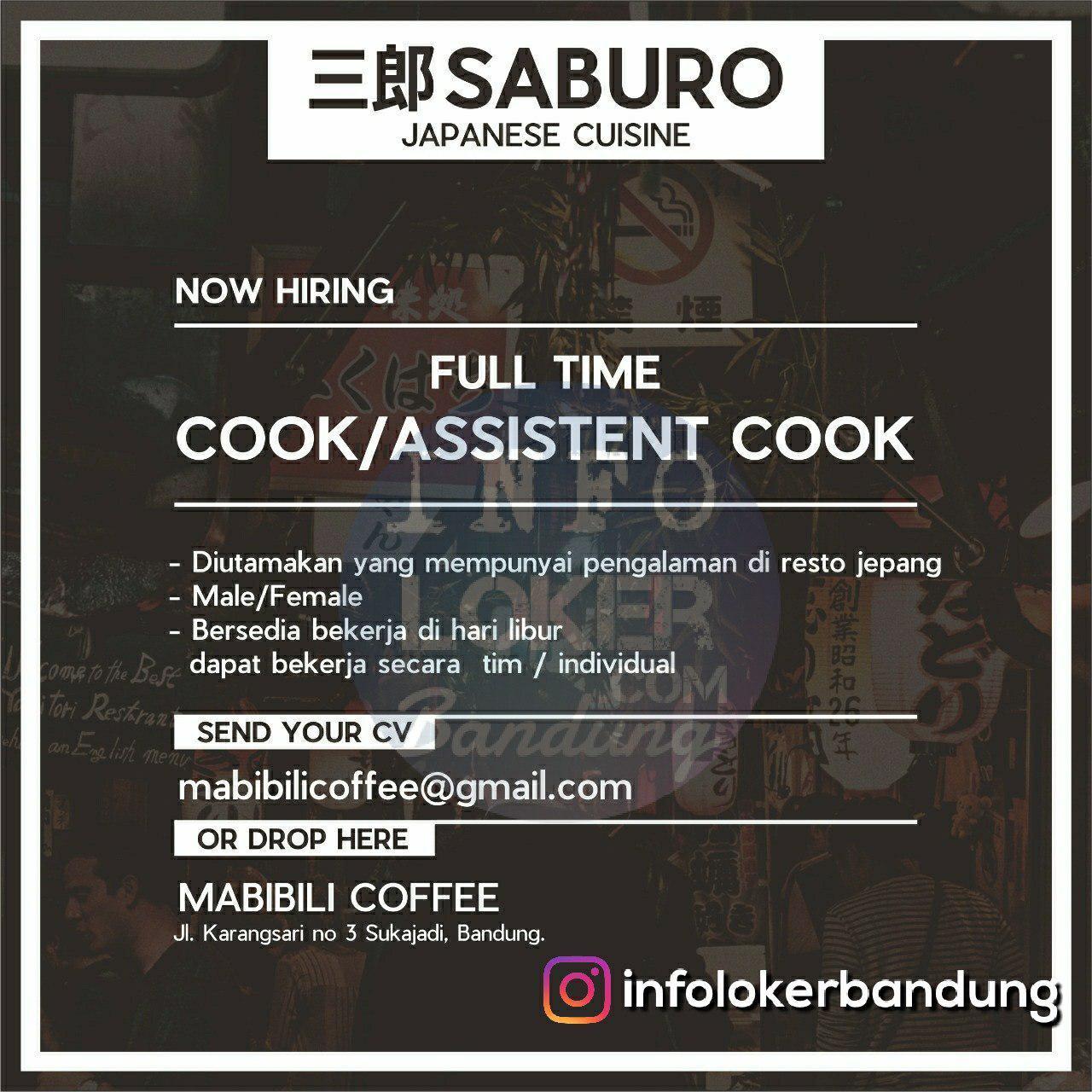 Lowongan Kerja Saburo Japanese Cuisine Bandung Mei 2018