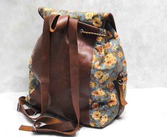 Сумка рюкзак на лето: натуральная кожа и натуральный хлопок Подарок дочери на день рождения, подарок взрослой дочери