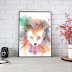 ↣ Watercolor Red Fox Wall Decor