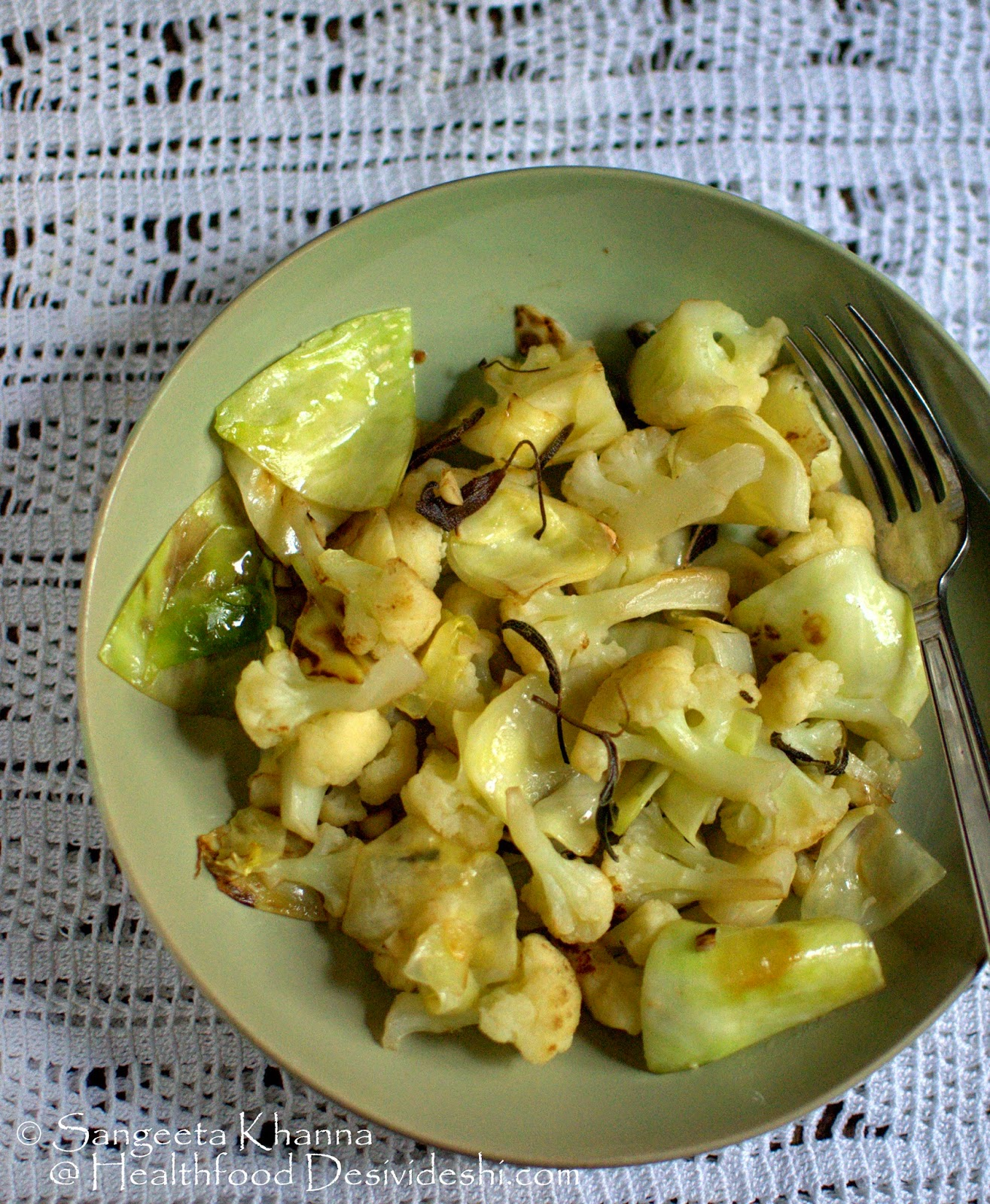 Thyme butter sauteed cauliflower