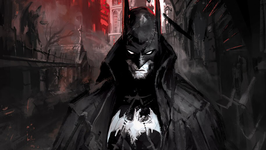 Batman, Art, DC, Superhero, 4K, #6.1203