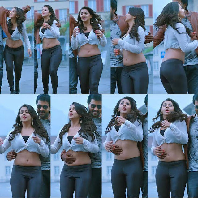 Sexy Tummypressing Photo of Telugu Actress Nikki-Galrani