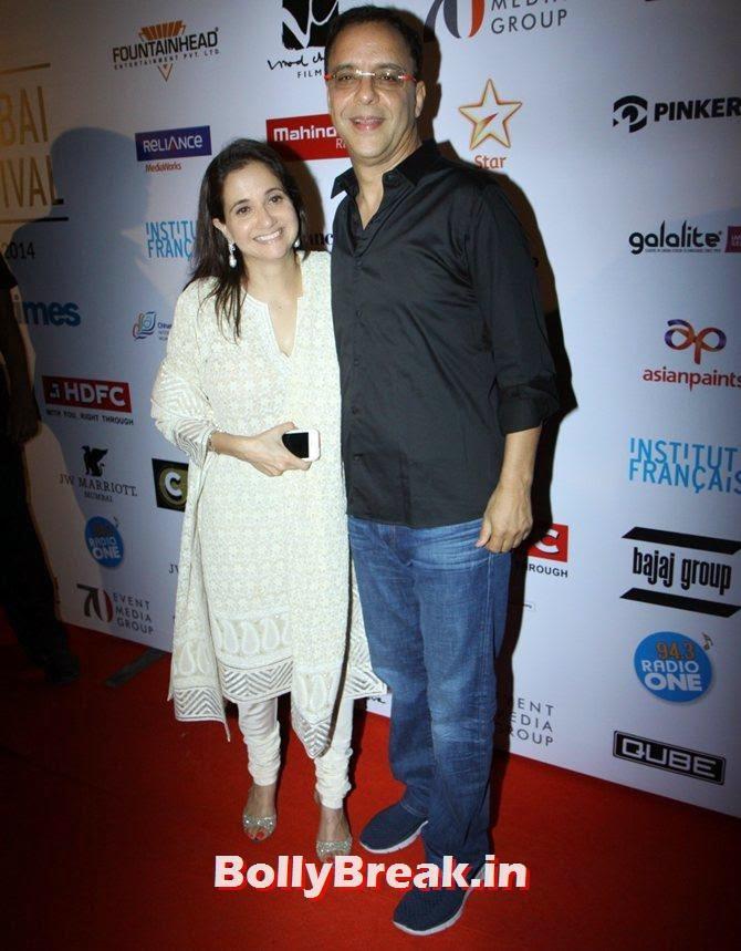 Anupama Chopra, Vidhu Vinod Chopra, Mumbai Film Festival 2014 Photos