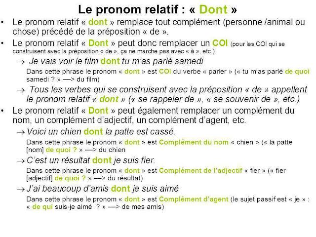 Zaimki względne proste - zaimek DONT 2 - Francuski przy kawie