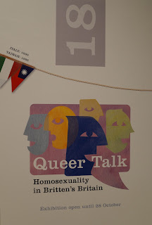 Queer Talk Exhibition, detail of timeline ©Britten-Pears Foundation