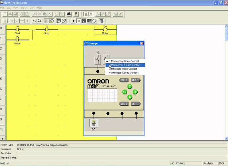 Omron Zen software