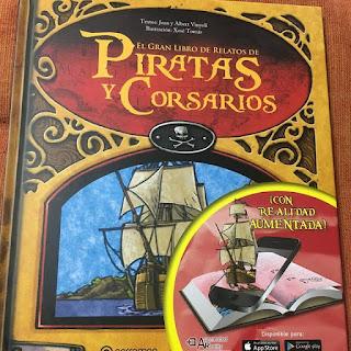 que estas leyendo, boolino, El gran libro de relatos de piratas y corsarios, realidad aumentada, lecturas, yo leo, lee libros,