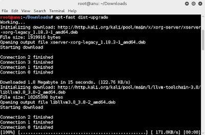 Cara Mempercepat update dan Install Aplikasi di Kali Linux (apt-fast)