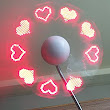 LED Programmable Message Fan W/Custom Drawing - USB Powered (RED Led)