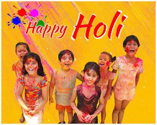 Happy Holi WhatsApp DP Children