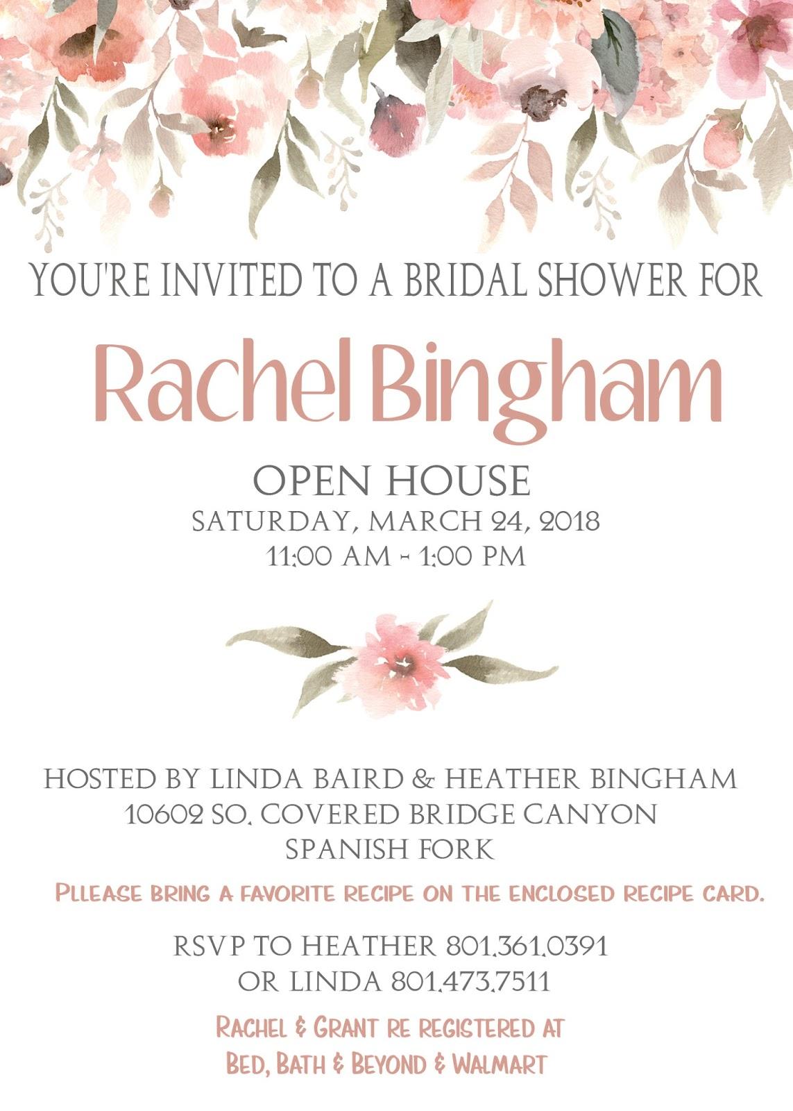 Elizabeth Stoddard Portfolio Bridal Shower Invitations