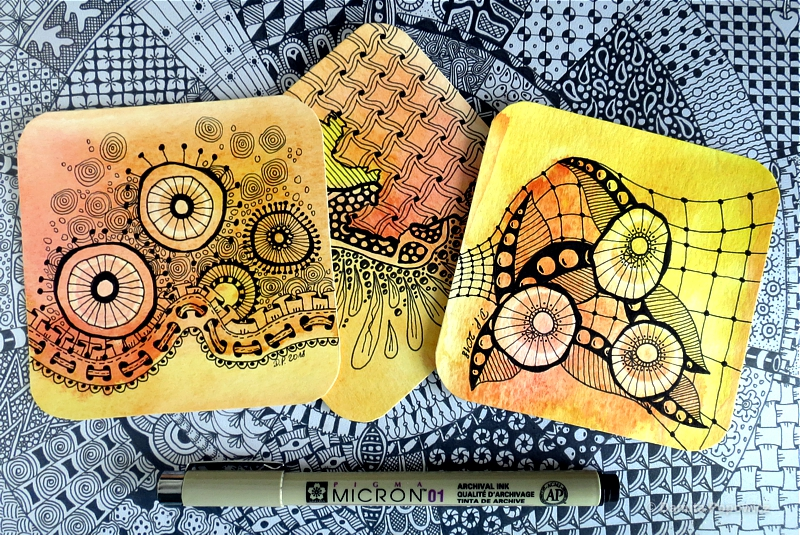 zentangle akwarela