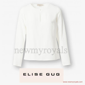 Crown Princess Mary wore ELISE GUG Silk Blouse