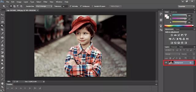 Mengubah Background Menjadi Layer Adobe Photoshop CC