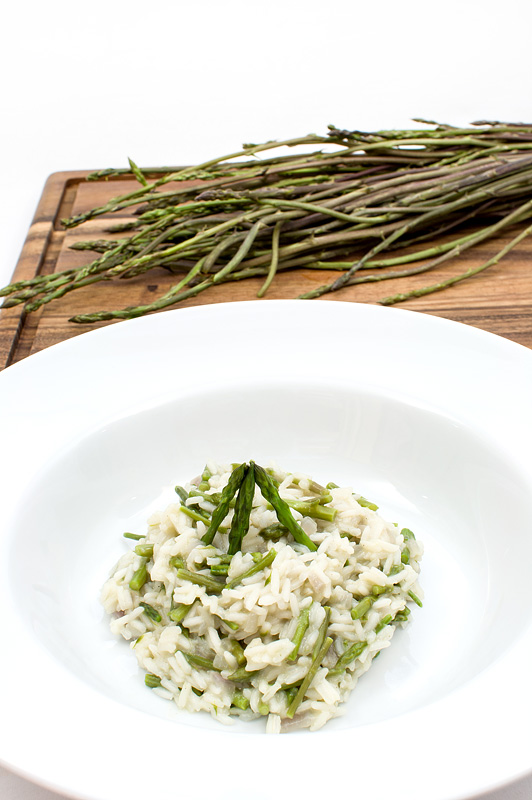 Wild asparagus rissoto