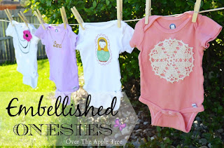 Embelished Onsies by Over The Apple Tree
