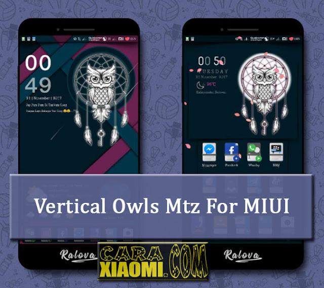 Xiaomi Theme Vertical Owls Mtz Tema Keren Terbaru Untuk MIUI