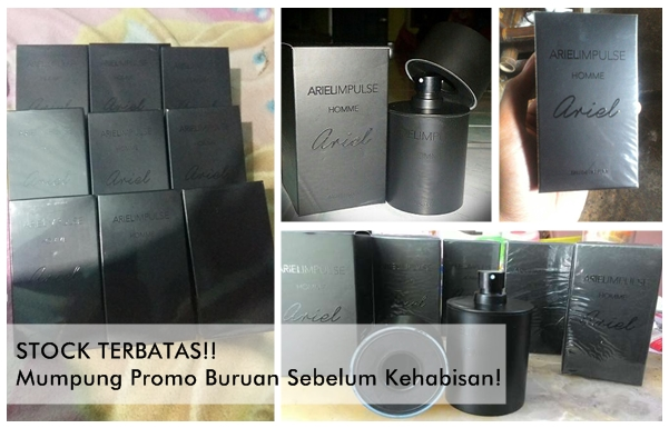 Ready Stock Parfum Ariel Impulse Homme Original Termurah