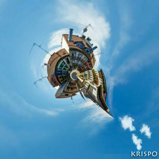 imagen circular del casco antiguo de hondarribia