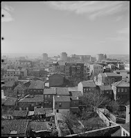 Yedikule as seen from the Minaret of Agios Ioannis Stoudios (İmrahor Camii), February 1937. The Byzantine and Ottoman Yedikule towers dominate the landscape [Credit: © Nicholas V. Artamonoff Collection, Image Collections and Fieldwork Archives, Dumbarton Oaks]