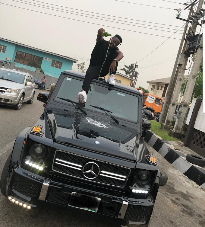 Nigeria rapper, Zoro turns up with his new acquired G- Wagon