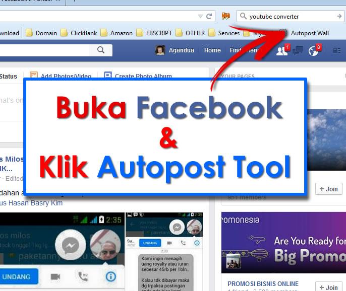 Buka FB dan Klik Autopost