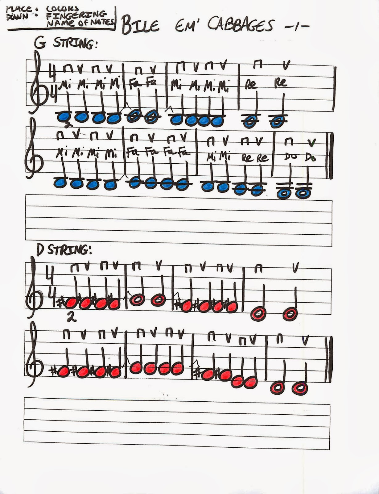 Miss Jacobson S Music Violin Note Reading Songs Played On
