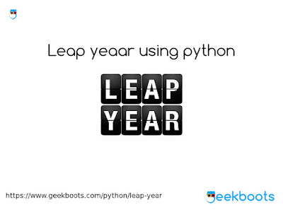 https://www.geekboots.com/python/leap-year