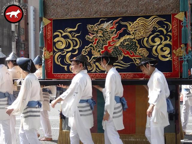 Porteur de char à Gion matsuri à Kyoto