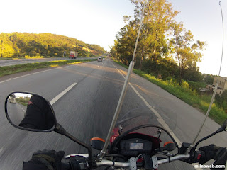 Belas paisagens no início do dia.