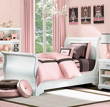 Habitación rosa para chica