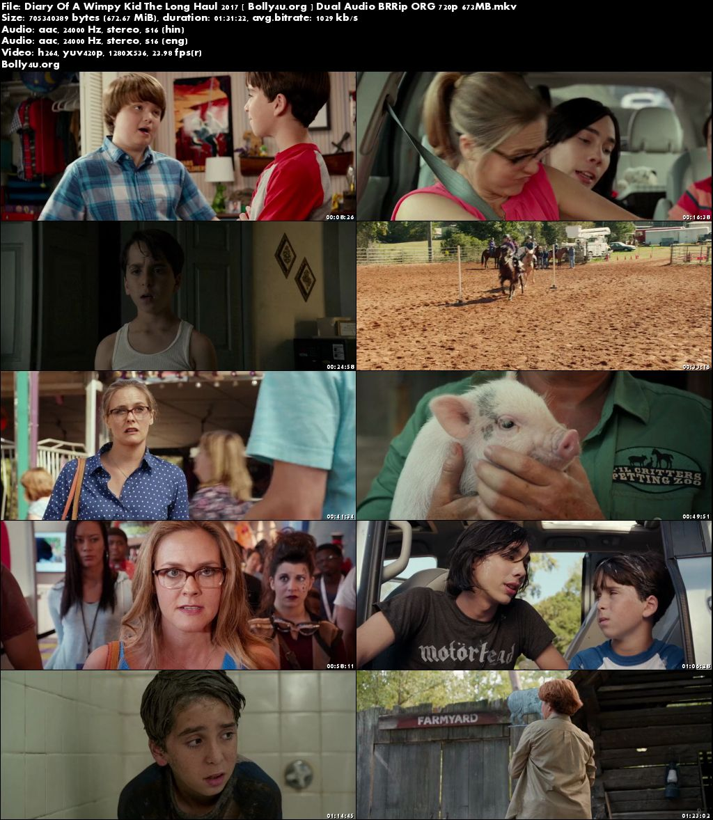 Diary Of A Wimpy Kid The Long Haul 2017 BRRip 650MB Hindi Dual Audio 720p Download