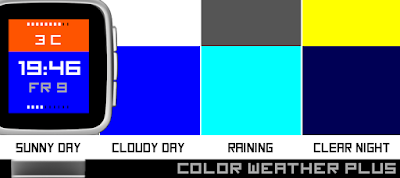 Color weather Plus watchface - Pebble Time / Time Steel