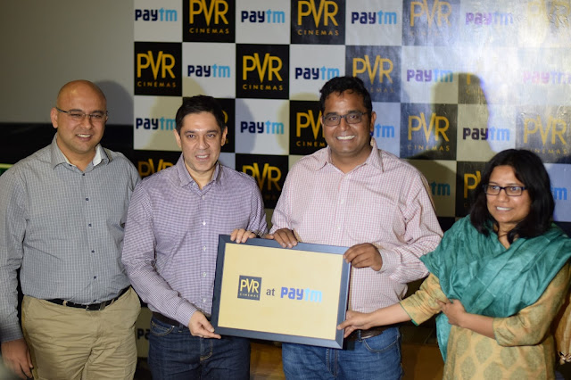 PVR and Paytm Form Strategic Online Movie Ticketing Relationship