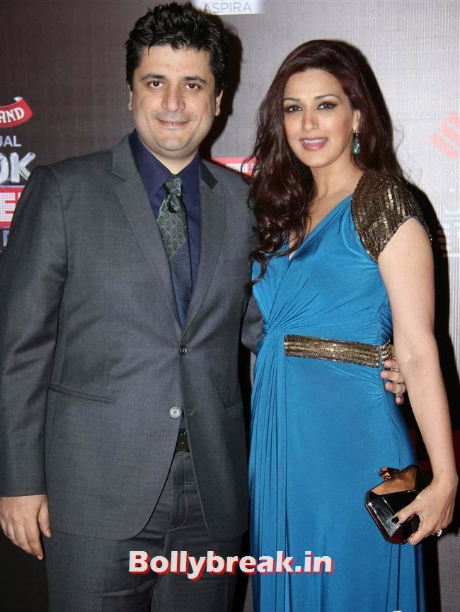 Goldie Behl and Sonali Bendre, Bollywood Wags at Screen Awards 2014