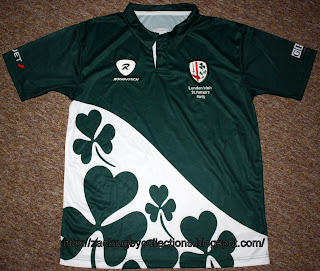 370d5fcfa0f Special Edition London Irish St Patrick Day Pro 2011 Rugby Jersey made by  Rugbytech. Official rugby jersey released for St Patrick Day 2011.
