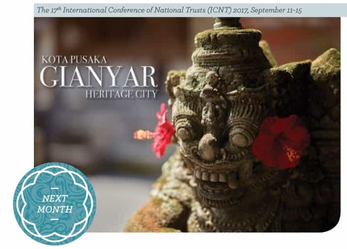 The 17th International Conference of National Trusts (ICNT) 2017, September 11–15