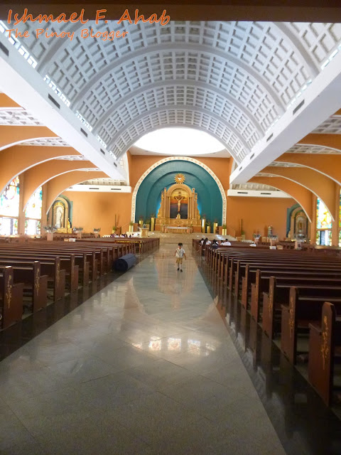 Inside the Shrine of St. Therese of the Child Jesus