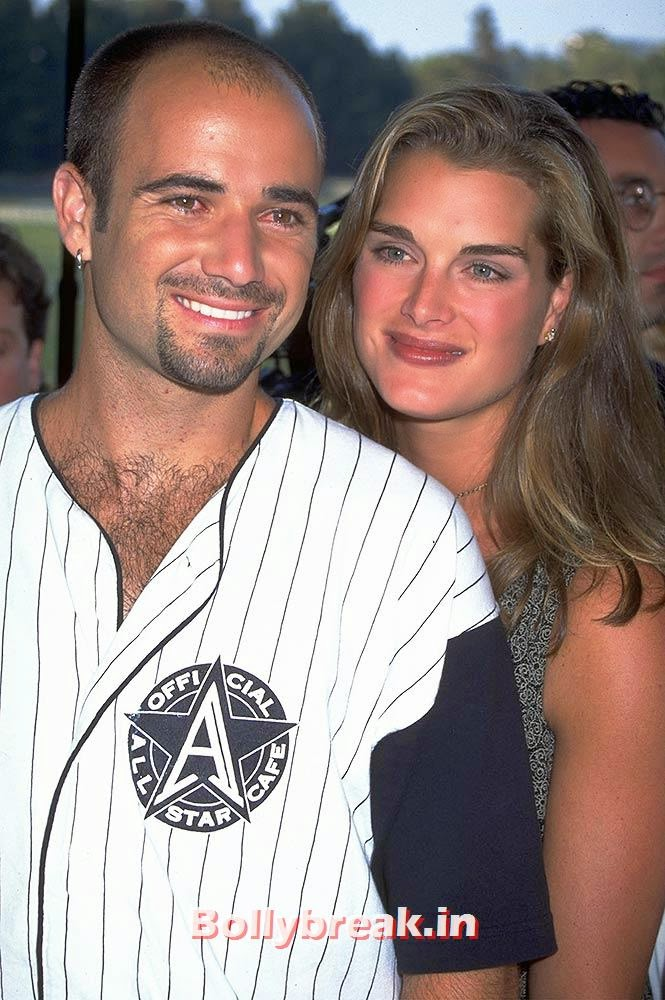 Andre Agassi and Brooke Shields, List of Sports star break-ups Pictures - Cricket, Tennis, Golf, Basketball
