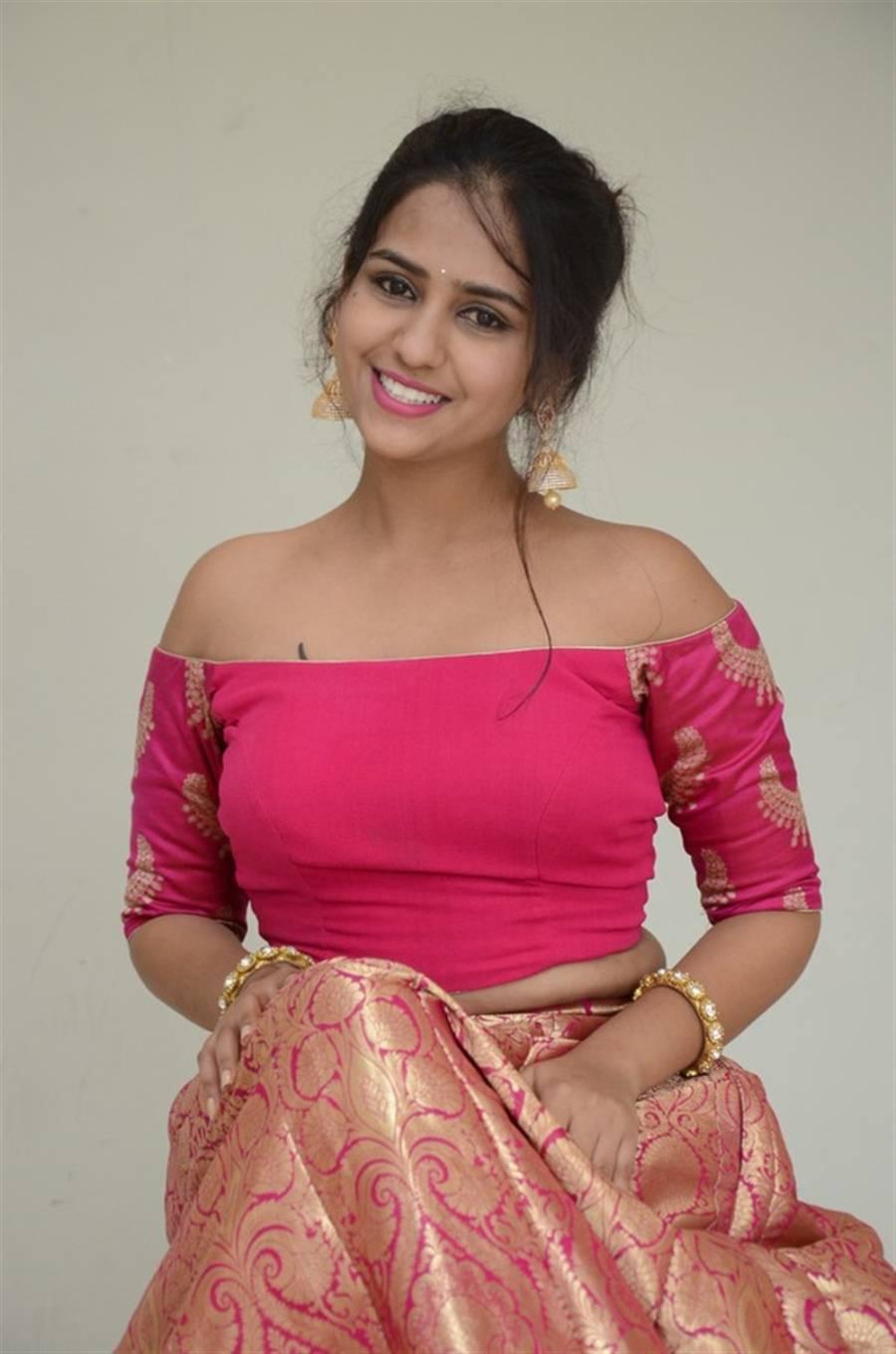 Indian Girl Deekshitha Parvathi at Neekosam Movie Release Function