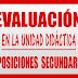 EVALUACIÓN UNIDAD DIDÁCTICA OPOSICIONES SECUNDARIA 2019 y 2020