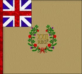 22nd Regiment of Foot (Edward Whitmore) Regimental Colour