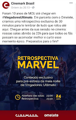30 minutos retrospectiva Cinemark