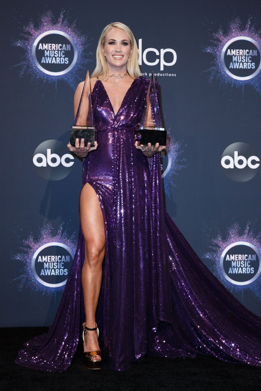 Carrie Underwood American Music Awards At Microsoft