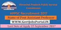 Himachal Pradesh Public Service Commission – 430 Assistant Professor