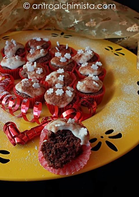 Minicupcakes al Cacao e Grand Marnier