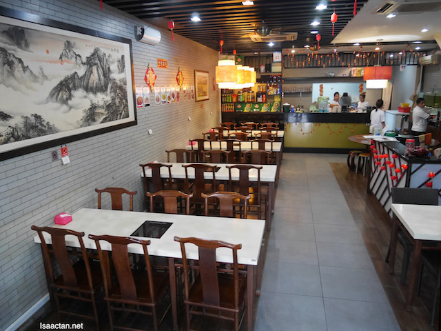 Clean, comfy interior of the restaurant