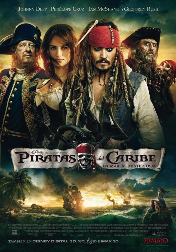 Poster final de Piratas del Caribe En mareas misteriosas