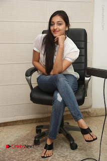 Tollywood Telugu Actress Mouryaani Latest Stills in Ripped Jeans at Intlo Deyyam Nakem Bhayam Movie Interview  0072.JPG